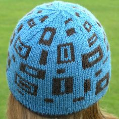 The Rectangly Hat _ double knitted - reversible