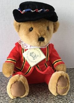 "Harrods Department Knights Bridge Teddy Bear Beefeater Royal Guard Plush 11"" NEW #Harrods #beefeater #bear #ebay #forsale"