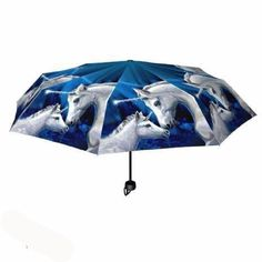 Sacred Love Umbrella has artwork by Lisa Parker and is from Nemesis Now, features a unicorn mare and her foal set in a magical blue landscape. Lisa Parker, Anne Stokes, Folding Umbrella, White Unicorn, Magical Forest, Oracle Cards, Wash Bags, Beautiful Gifts