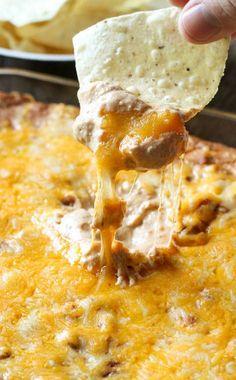 Super Easy Cream Cheese Bean Dip