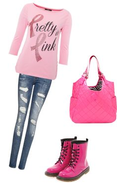 """Brest cancer awarness month"" by passion4fashion-22 ❤ liked on Polyvore"