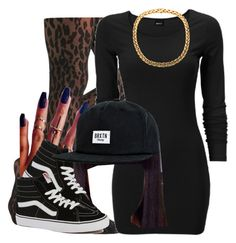 """""""Happy Saturday !!"""" by trillest-queen ❤ liked on Polyvore featuring Sneaky Fox, DK, Vans and Brixton"""
