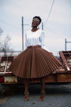 fashion   street style inspiration   plissed skirt   spring summer