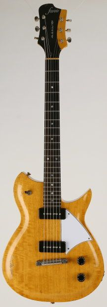 """Fano Alt de Facto RB6 2013 Vintage Amber """"I'm playing my Fano... Fano guitar"""" Andy Partridge"""