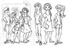 Disney High Sketch Dump 1 by ~Tella-in-SA on deviantART