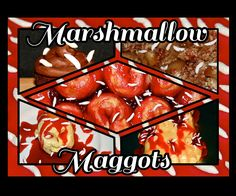 Marshmallow maggots are a perfect, versatile garnish that make any sweet dish into a creepy halloween delight. And they're very easy to make.All you'l...