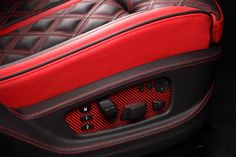 Crazy Interior for BMW X6 from TOPCAR - red and black grey accents