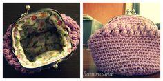 Para hacer este monedero de crochet la verdad es que no seguí ningún patrón, sencillamente fui dándole al ganchillo hasta que me pare...