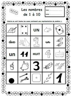 Les fondamentaux: les nombres de 0 à 9, numération, cp, Gs
