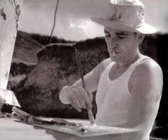 """José Pancetti (1902 - 1958) was a Brazilian modernist painter. Pancetti specialized in painting mostly seascape (""""marinhas"""", in Portuguese) and is notable for that, but he also liked to paint still life, landscape, figure and portrait painting. While living, Pancetti enjoyed a relatively late recognition. His production was not very prolific, so his paintings are rare and in the hands mostly of private collectors. After his death, his fame grew very much, and his paintings are highly valued."""