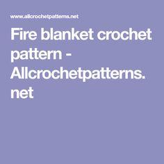 Fire blanket crochet pattern - Allcrochetpatterns.net