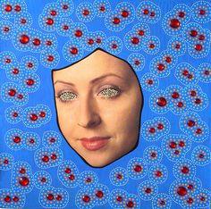 Naomi Vona #photography #drawing #art #crossmedia #conceptual #contemporary #italy #uk #italian #british #face #blue