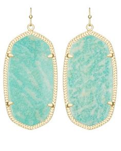 Danielle Earrings in Amazonite - Kendra Scott Jewelry.