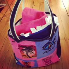 have Project Repat make a beach tote out of your old tees. Awesome idea for vacation tshirts that don't fit anymore. #tshirts #recycle