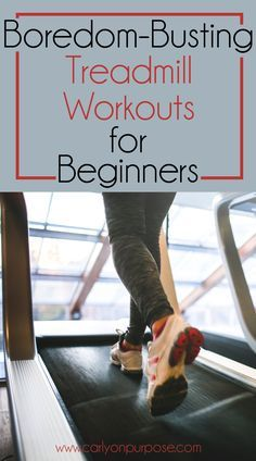 The treadmill can be daunting... try these easy beginner treadmill workouts to break up the boredom!