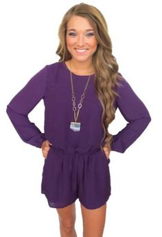 Gameday Romper- Purple #new #new-arrivals #rompers-jumpers