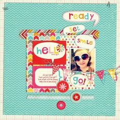 hello! layout by neeceebee - Two Peas in a Bucket