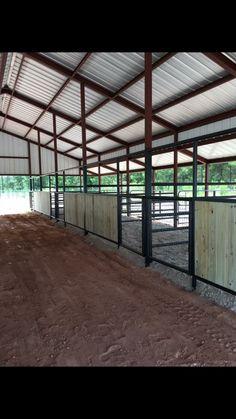 Barn Stalls, Horse Stalls, Dream Stables, Dream Barn, Show Cattle Barn, Horse Pens, Horse Barn Designs, Backyard Barn, Horse Shelter