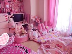 ideas for bedroom diy goth pink Cute Room Ideas, Cute Room Decor, Pastel Room, Pink Room, Dream Rooms, Dream Bedroom, Room Ideas Bedroom, Bedroom Decor, Kawaii Bedroom
