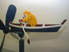 Outdoor Animated Row Boat Whirligig - Yard Art Whirligigs