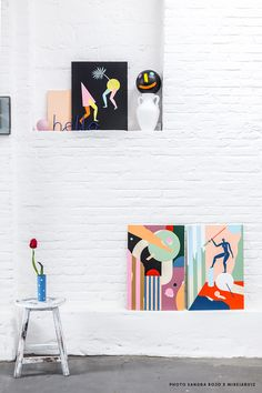 Photo Sandra Rojo Cocolia Studio Shop.cocolia.cat Art Du Collage, Paint Themes, Workspace Inspiration, Art Model, Illustrations And Posters, Photo Studio, Wall Prints, Art Inspo, Creative Art