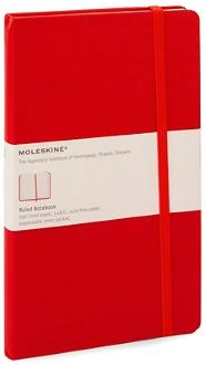 Moleskine Classic Red Large Ruled Notebook $18.95