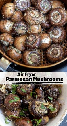 This Air Fryer Parmesan Mushrooms Recipe is a super quick and easy side dish or. , This Air Fryer Parmesan Mushrooms Recipe is a super quick and easy side dish or. This Air Fryer Parmesan Mushrooms Recipe is a super quick and easy . Air Fryer Oven Recipes, Air Frier Recipes, Air Fryer Dinner Recipes, Air Fryer Recipes Vegetables, Veggies, Air Fried Vegetable Recipes, Air Fryer Recipes Appetizers, Air Fryer Recipes Vegetarian, Vegetarian Cooking