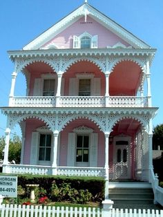 """My favorite house in CM when I was young....Victorian """"Pink House""""  Cape May NJ"""