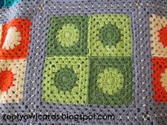 Circles in Square Grannies Blanket