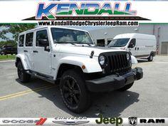 2014 Jeep Wrangler Unlimited Altitude Edition 2014 Jeep Wrangler, Jeep Wrangler Unlimited, White Jeep, Miami, Future, Future Tense