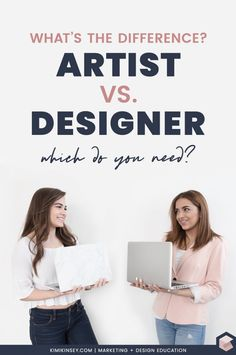 The difference between a graphic artist and a graphic designer, plus what types of projects a graphic artist of graphic designer would be responsible for. Find out which you need to hire for your project. Graphic Design Lessons, Graphic Projects, Graphic Design Inspiration, Graphic Designers, Web Design, Blog Design, Design Trends, Design Ideas, Artist Logo
