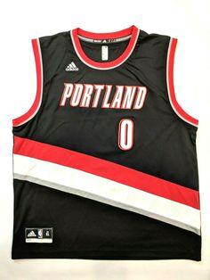 562f5df7f30 Adidas NBA Jersey Portland Trailblazers Damian Lillard Red Alt sz M
