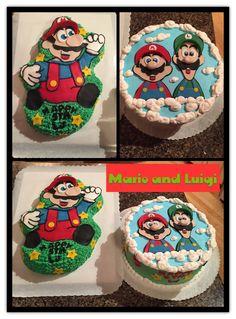 Mario and Luigi Cakes