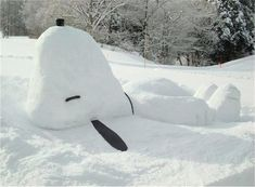 So doing this in the next blizzard. Best snow decoration since Calvin and Hobbes' snowmen!