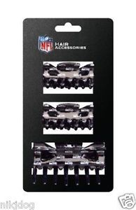 Seattle-Seahawks-Plastic-Hair-Clips-3-peice-Pack-Licensed