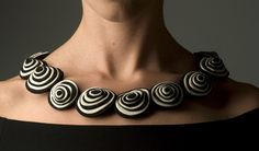 Recreate in polymer - Felt necklace by Danielle Gori-Montanelli