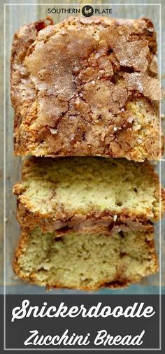 Zucchini Bread - Southern Plate Snickerdoodle Zucchini Bread will have your family jumping for joy.Snickerdoodle Zucchini Bread will have your family jumping for joy. Baking Recipes, Cake Recipes, Dessert Recipes, Recipes Dinner, Top Recipes, Cleaning Recipes, Party Recipes, Filet Mignon Chorizo, Snickerdoodle Bread