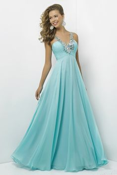 Tulle Straps Beaded Floor-length Prom Dress With Diamond