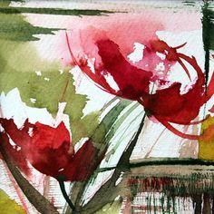 N° 77 - Painting,  10x10 cm ©2013 par Véronique Piaser-Moyen -  Peinture, Aquarelle