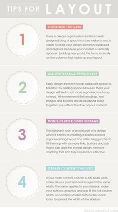 Blog Design Tips: Layout - Click image to find more Design Pinterest pins