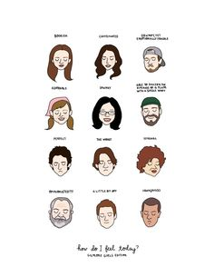 Gilmore Girls Mood Chart Print Hand-Illustrated by roaringsoftly