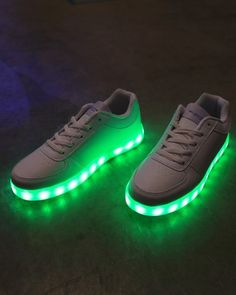 Light Up LED Shoes - All White - Burning Man, Halloween, Rave Shoes, Dance Shoes, Party Shoes