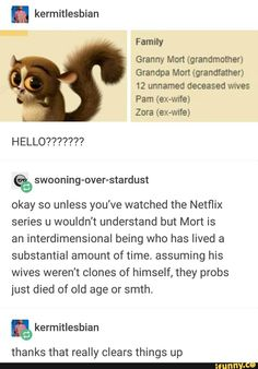 Mort the interdimensional being - thanks that really clears things up --- Madagascar Stupid Funny Memes, Haha Funny, Funny Quotes, Hilarious, Funny Stuff, Random Stuff, Funny Things, Collateral Beauty, Excuse Moi