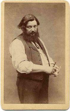 Gustave Courbet Pittore francese, il più significativo esponente del movimento realista. Born: 10 June 1819 Dead: 31 December 1877 #artist#art#draw#painting#oilpainting#special#photo