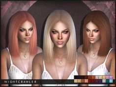 Sims 4 Hairs ~ The Sims Resource: Antoinette hair by Nightcrawler The Sims 4 Pc, Sims Four, My Sims, Sims Cc, Sims 4 Cc Folder, The Sims 4 Cabelos, Pelo Sims, Sims4 Clothes, Sims 4 Cc Packs