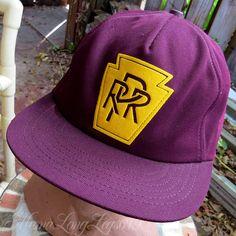 afe8972882c0e Vintage PRR Pennsylvania Railroad Snapback Hat Cap Maroon OSFA USA   LiveActionSportswear  BaseballCap