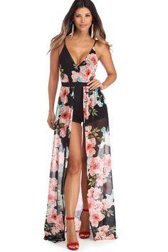 a356b474c32 Black Floral Party Mesh Shmaxi Spring Looks