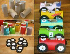 toilet car roll art