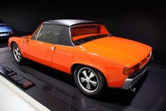Toward the late 1960s, the long-standing relationship between Porsche and Volkswagen leads to the design of the VW-Porsche 914 - a sporty yet affordable car.    In addition to the four-cylinder version for Volkswagen, a six-cylinder version of this handy mid-engine vehicle is built for Porsche.    This is one of the two 1969 vehicles built with an eight-cylinder racing engine which was presented to Ferry Porsche on his 60th birthday.