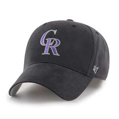 new concept ee08e e94fd Colorado Rockies KIDS 47 Brand Black MVP Adjustable Hat